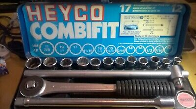 Vintage Heyco Af - Mm Combifit Socket Set Made In Germany