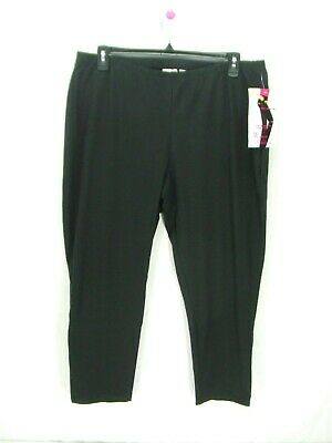 Women With Control Black Slimming Ankle Pants Womens Plus Size 3X New ~  u