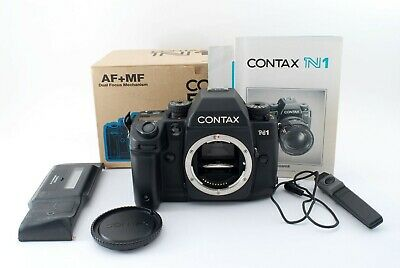 Contax N1 35mm SLR Film Camera Body + Data Back D-10 w/Box [Excellent+++] Japan