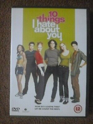 10 Things I Hate About You (1999) Julia Stiles Heath Ledger Comedy Dvd Vgc