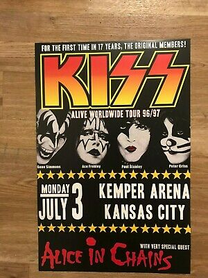 Kiss Alive Tour Alice in Chains 1996 Layne Staley Final Show Concert Poster