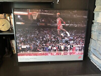 Michael Jordan Famous Flying Dunk from Free Throw Foul Line Poster
