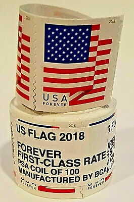 NEW LISTINGRoll of 500 USPS FOREVER POSTAGE STAMPS ( 5 coil ) ***FREE SHIPPING**