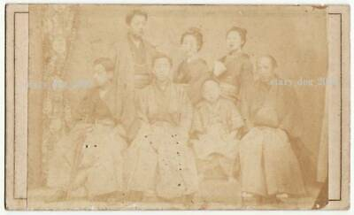 Treasure Old Photos Meiji Period Coin Collector Immortal Tsujihiko Triple