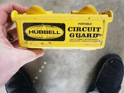 Hubbell  GFP15M  Portable GFCI w/ Cord, 120VAC 4 Outlet Circuit Guard
