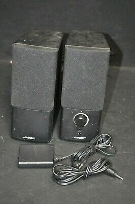 Bose Companion 2 Series III Computer Speakers w/ Bose AC Adapter Works Great