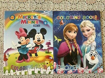 Coloring Books For Kids Lot of 4 Winnie the Pooh/ Mickey/ Princess/ Frozen