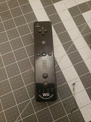 Nintendo Wii Motion Plus Controller Remote Black Official TESTED WORKS