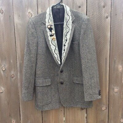 Hagger Mens Blazer Lace Detail Costume Button Details Classy Tweed Size 42