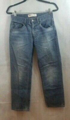 Mens Boys Levis 514 16R Regular Fit Straight Leg Size 28X28 Blue Jeans RED TAB