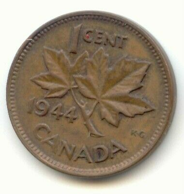 Canada 1944 Canadian PENNY one cent King George VI 1c --  EXACT COIN SHOWN