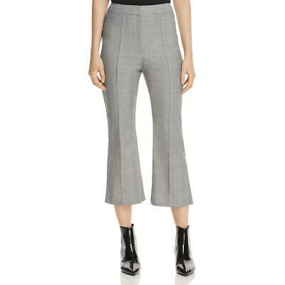 Finders Womens Coco B/W Glen Plaid Office Cropped Pants Trousers S BHFO 9381