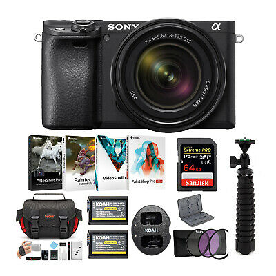 Sony a6400 Mirrorless Digital Camera with 18-135mm Lens Bundle