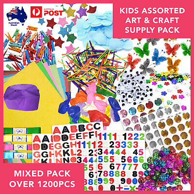 Children's Art & Craft Supplies Bulk Pack Assorted Over 1200pcs Kids Projects
