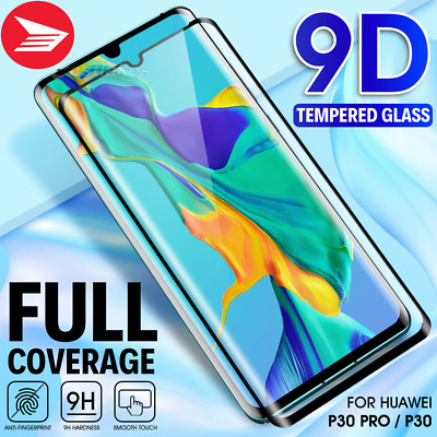 For Huawei P30 / Pro Lite Premium Hard CoverTempered Glass Screen Protector Gurd
