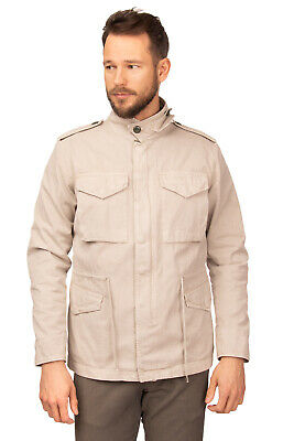 RRP €300 DEPARTMENT 5 Gabardine Military Jacket Size L Garment Dye Made in Italy