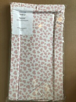 Brand new in bag Bebeluca pink pastel hearts small change mat 70 x 38 cm