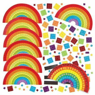 Rainbow Mosaic Kit x 1 Kids Easter Art Party Bag Filler Easter Spring Free P&P