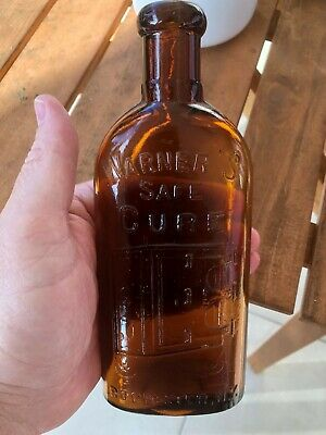 Rare Variant Warners Safe Cure Rochester Half Pint Bottle With Rare Neck