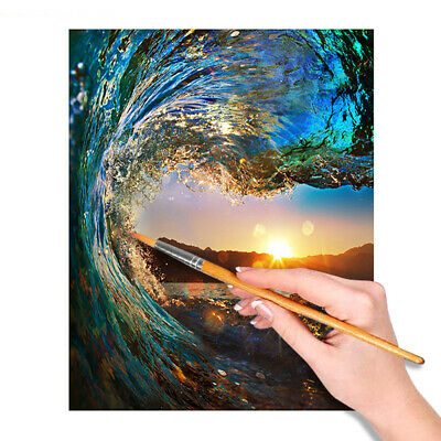 Sunset Paint by Numbers Kit DIY Oil Painting For Adults Child Beginners
