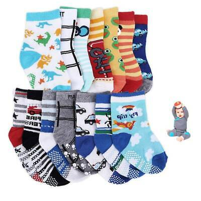 14 Pairs Boy Girl ABS Anti Non Slip Baby Socks 100% Cotton 6 months to 3 years