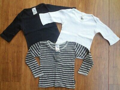 3 X Baby Unisex Size 00 Long Sleeve Tops Bonds