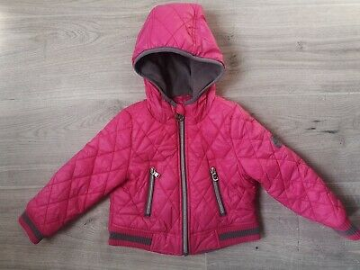 Baby Girls Hot Pink Fleece Lined Padded Coat From Michael Kors Age 2T