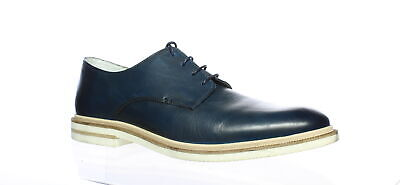 Kenneth Cole Mens Vertical Lace Up B Navy Oxford Dress Shoe Size 10.5 (871104)