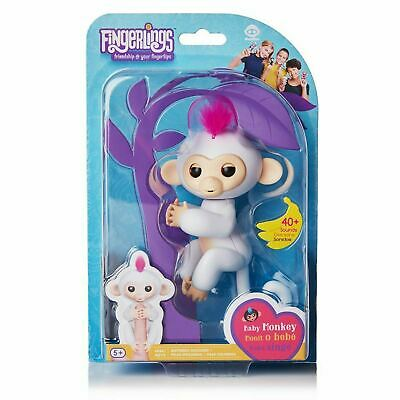 WowWee FINGERLINGS MONKEY SOPHIE Interactive Toy (White with Pink Hair)