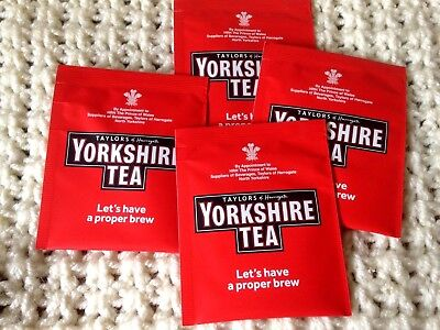 50 Yorkshire Tea Bags BB 30/03/2021  Individually Wrapped in Sachets / Envelopes