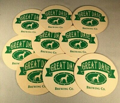 The Great Dane Brewing Company Group Of 10 Coasters, Unused