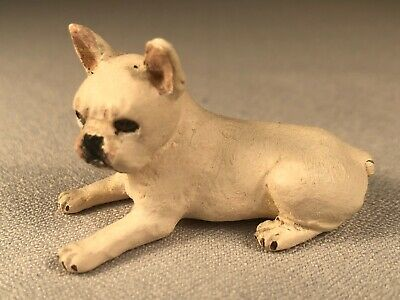 Vintage Hand Made And Decorated Fawn French Bulldog Puppy, Signed By Artist