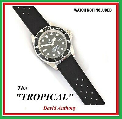 FITS & FOR TROPICAL STYLE WATCHES 18mm, 20mm, 22mm, 24mm DIVERS  RUBBER STRAP