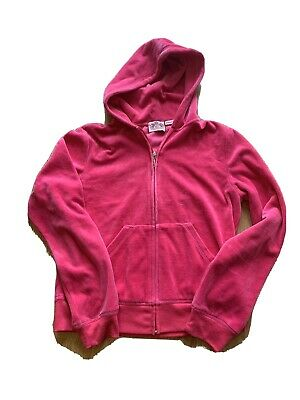Genuine Juicy Couture Pink Velour Tracksuit Top Child XL