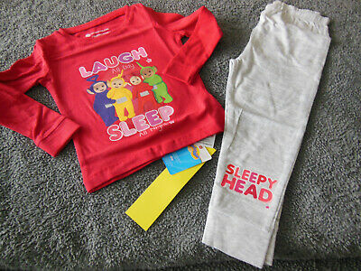 Girls unisex teletubbies pyjama set aged 2-3 years BNIP!