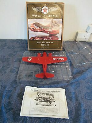 Wings Of Texaco 1940 Grumman Goose 4th In Series. Red Bank Plane. ERTL
