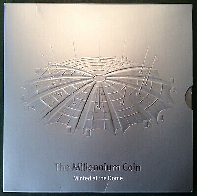 'Minted At The Dome'. Royal Mint 2000 'Millenium' B.U. Five Pound, £5, Coin Pack