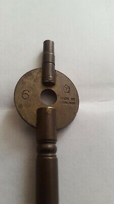 Antique Double Ended Carriage Clock Key Progress P In A Spade 6 ( 3.75 Mm )