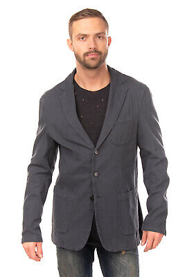 RRP €115 QUINTESSENCE Blazer Jacket Size 48 / M Garment Dye Made in Italy
