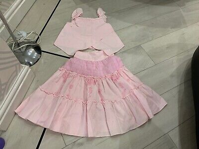 Girls Designer Little Darlings Outfit Skirt & Top Age 5 Years Vgc