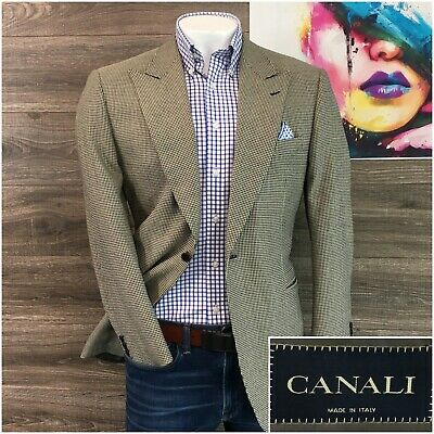 Canali Mens Dinner Jacket Sport Coat Blazer Mens Size 42R One Button Wool Silk