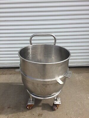 250 quart Mixer Bowl with Cart / Dolly.  Stainless steel (for Hobart Mixer?)