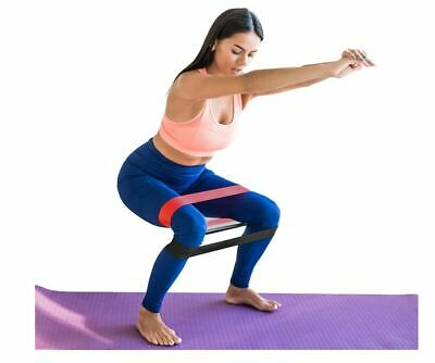 Resistance Loop Bands Set of 5 Exercise Bands Workout Gym Yoga Fitness Pilates