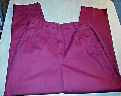 """CABIN CREEK Womens Red 100% Cotton Tapered Pants Trousers Size 16 AVG  28"""" L"""