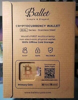 【24K Gold-plated】 First Day of Issue - Bitcoin Ballet Cryptocurrency Wallet