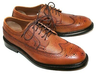 Men's CLARKS Edward Limit Brogue Shoes Tabacco Scotch Leather UK9 EU43 RRP: £110