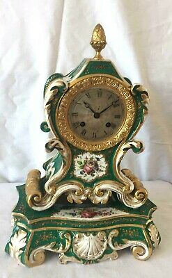 An Early French Silk Suspension Porcelain Mantle Clock