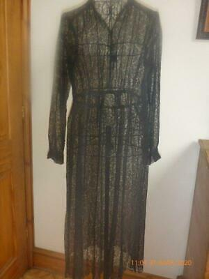 Stunning Petite Black Spiders Web Antique Lace Dress