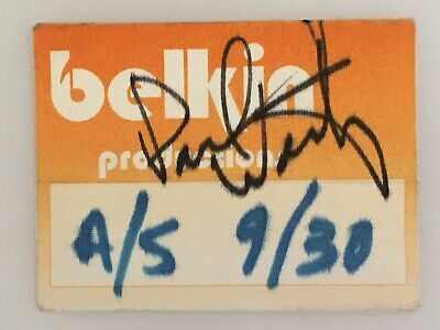 PAUL WESTERBERG REPLACEMENTS AUTOGRAPHED BACKSTAGE PASS Belkin Productions