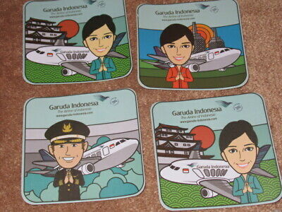 Garuda Indonesia Airlines Coasters Maybe Stickers Brand New Mint X 4 322